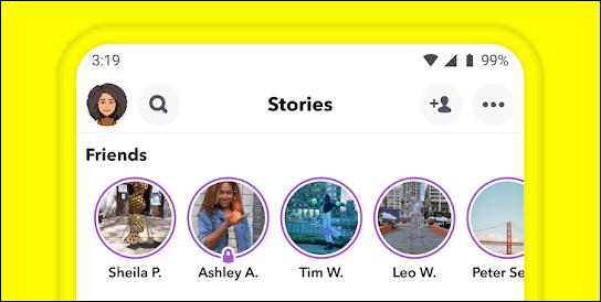 Historias de Snapchat.