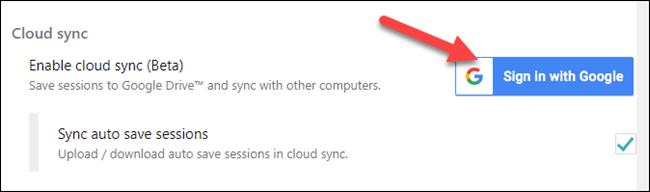 Iniciar sesión con cuenta de Gmail.