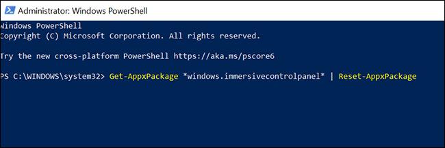 De esta forma conseguimos restablecer la aplicación de configuración de Windows desde PowerShell.