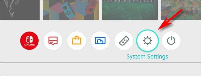 Vamos a configuración del sistema en Nintendo Switch.