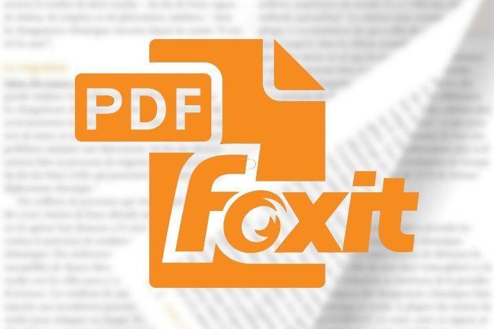 Foxit es uno de los mejores programas de compresión PDF gratuitos