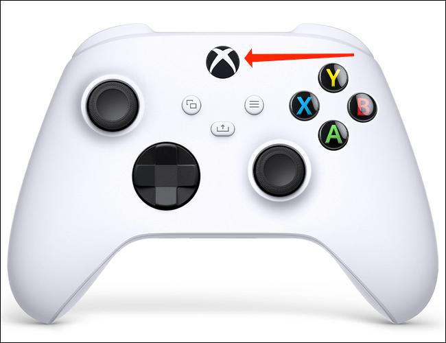 Encendemos el mando de Xbox.