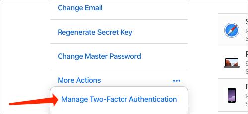 Administrar autenticación en dos factores.