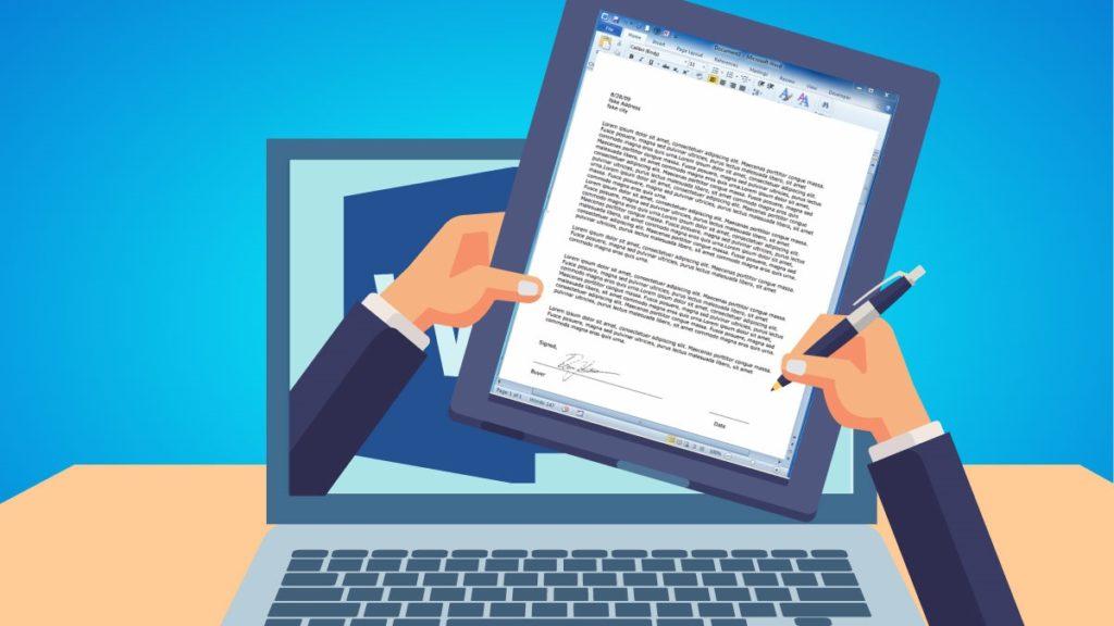 ¿Cómo agregar una firma manuscrita a un documento de Word?
