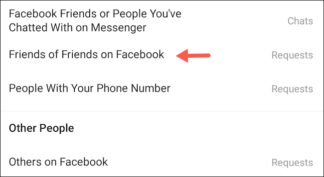 Amigos de amigos en Facebook.