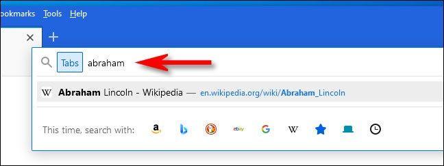 Buscar pestañas en Firefox.