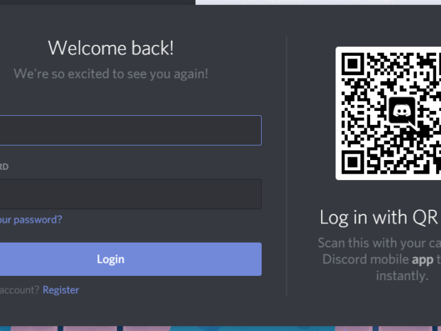Cómo iniciar sesión en Discord usando un código QR