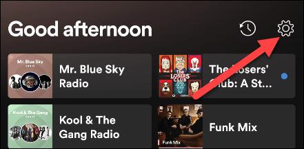 Configuración de Spotify.