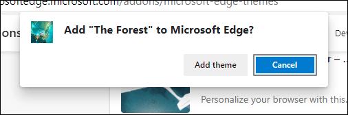 Cómo añadir un tema en Edge.