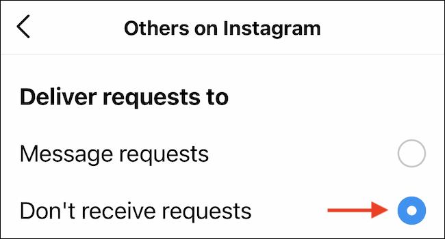De esta forma podemos deshabilitar las solicitudes de mensajes en Instagram.