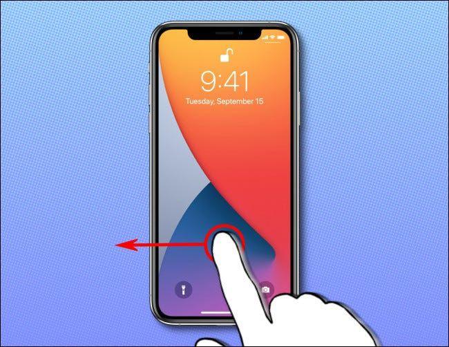 Abrir la cámara desde la pantalla de bloqueo de iPhone.