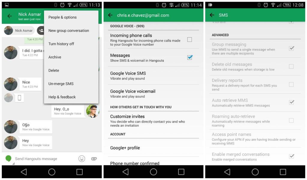 eliminar automáticamente SMS Android 1,5
