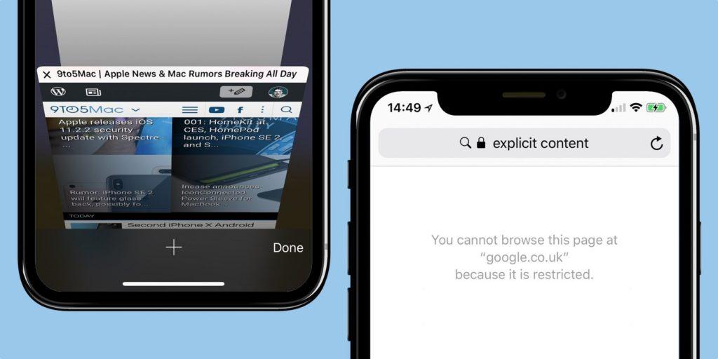 limitar contenido adultos iOS 2