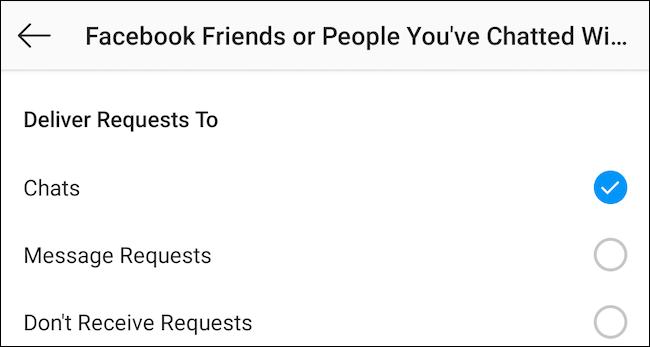 desactivar la solicitud de mensajes.