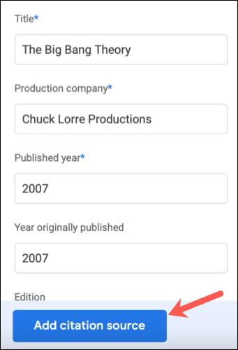 De esta forma podemos agregar citas Google Docs.