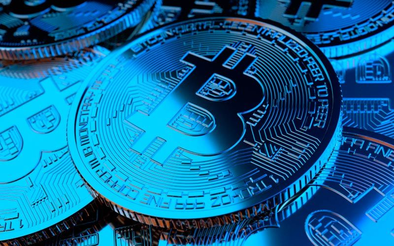 bitcoin azul