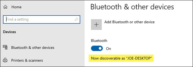 Activar Bluetooth.
