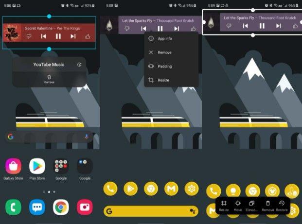 De esta forma podemos borrar un widget en la pantalla inicio Android