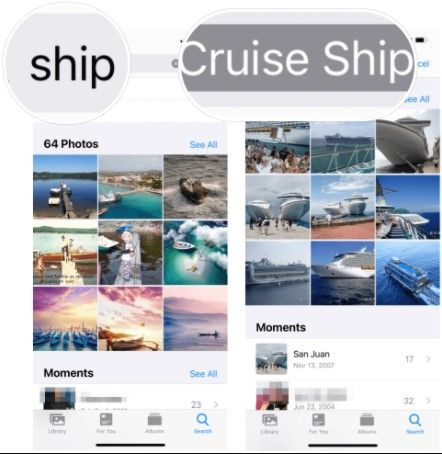 Cómo buscar objetos en las fotos de iOS.