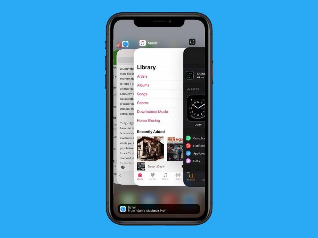 cambiar apps abiertas iPhone 2