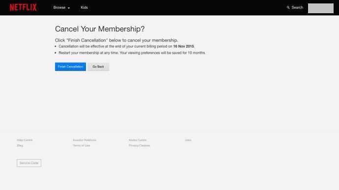 Cancelar membresia desde la web.