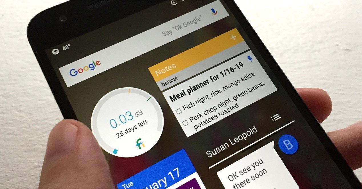 Cómo agregar widget para Android en la pantalla de inicio.