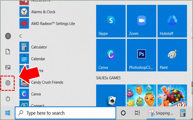 Configuración de Windows.