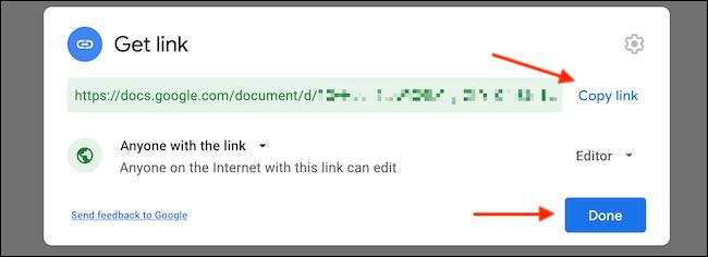 Copiamos el enlace y lo compartimos en la web. De esta manera podemos compartir carpetas y documentos en Google Drive