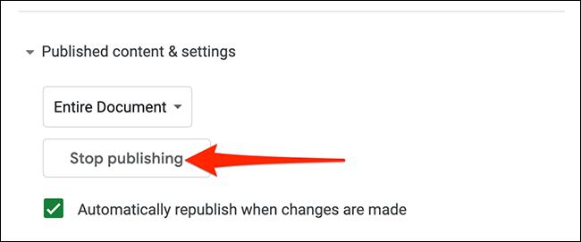 Dejar de publicar página web.