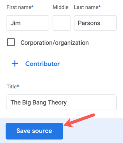 Cómo editar una cita de Google Docs.