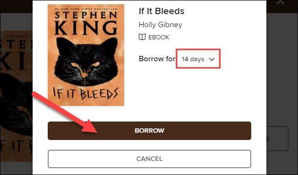 Pedir prestado el libro de Kindle.