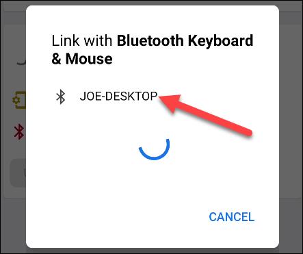 Emparejar dispositivo Android para usar como teclado y ratón mediante Bluetooth.