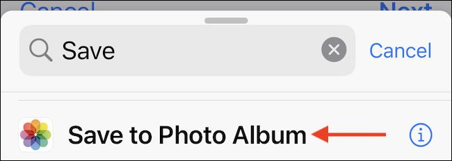 Guardar en el álbum de fotos.