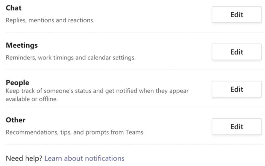 Configurar notificaciones de chats.