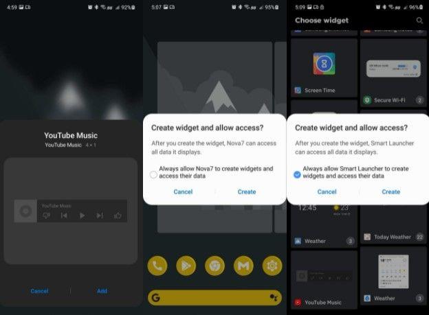De esta manera podemos agregar o añadir un widget en la pantalla de inicio en Android.