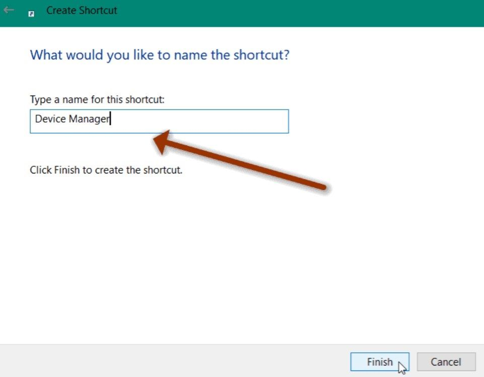 Configurar nombre personalizado del acceso directo.