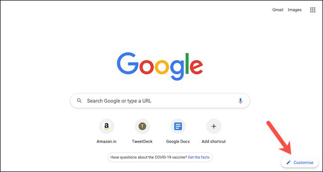 Perosnalizar Chrome.