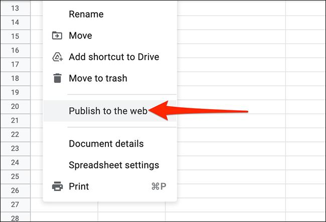 Opciones de configuración Google Sheets.