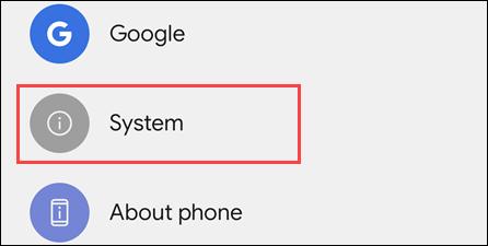 Sistema en Android.