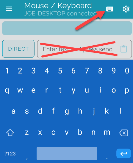 Activar teclado Bluetooth.