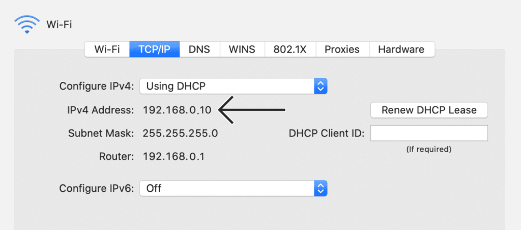 IP pública privada MacOS 2
