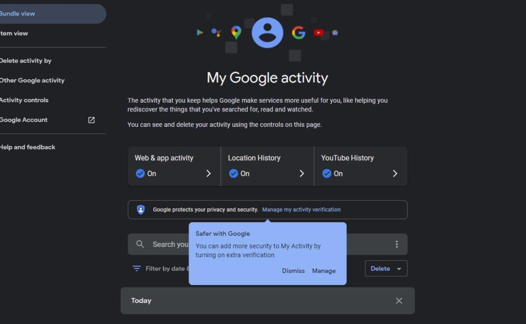 Mi actividad Google contraseña 2