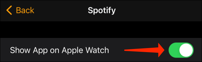 Activar Spotify en Apple Watch.