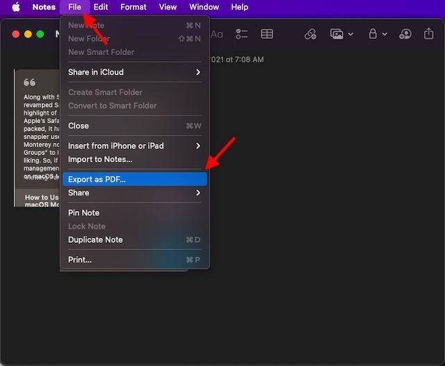 Exportar como PDF.