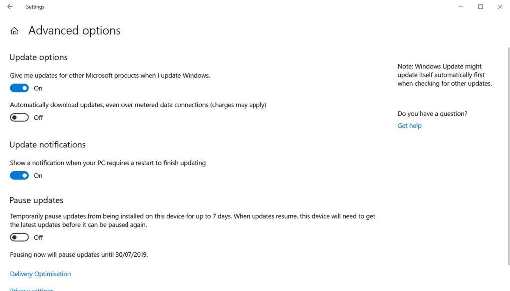 desactivar actualizaciones Windows 10 3
