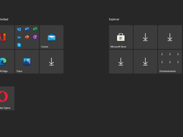 Activar o desactivar lista de todas las apps en menú de inicio de Windows
