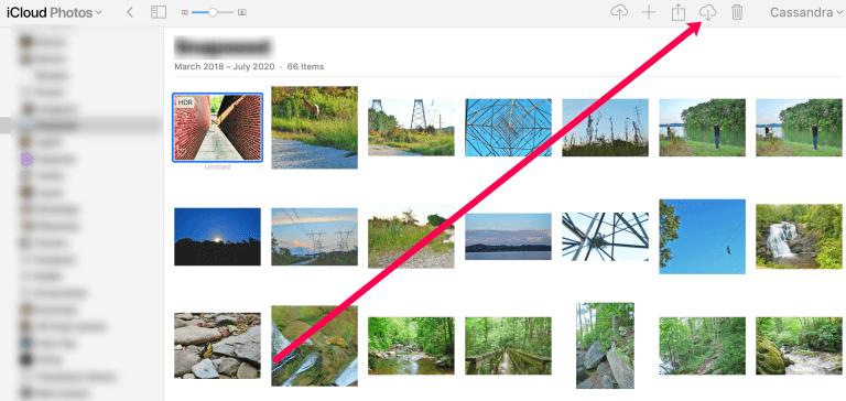 Descargamos la foto de iCloud Photos.