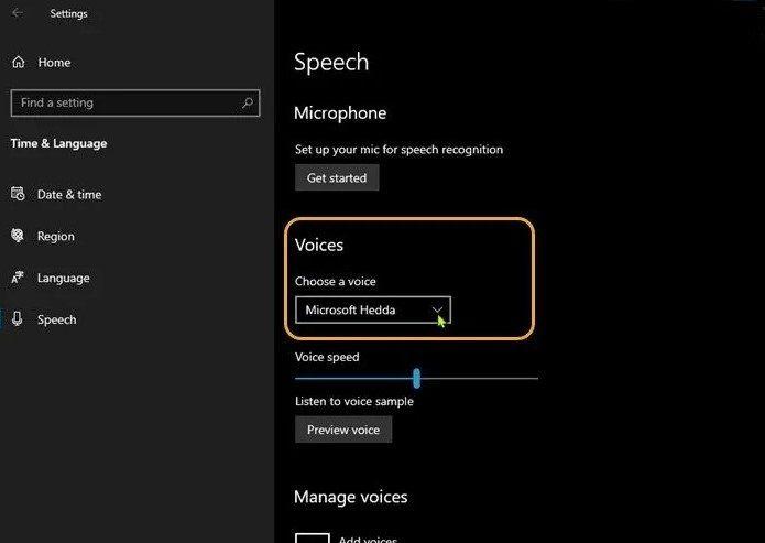 Texto a voz en Windows 10