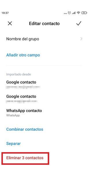 Cómo eliminar contacto de WhatsApp.