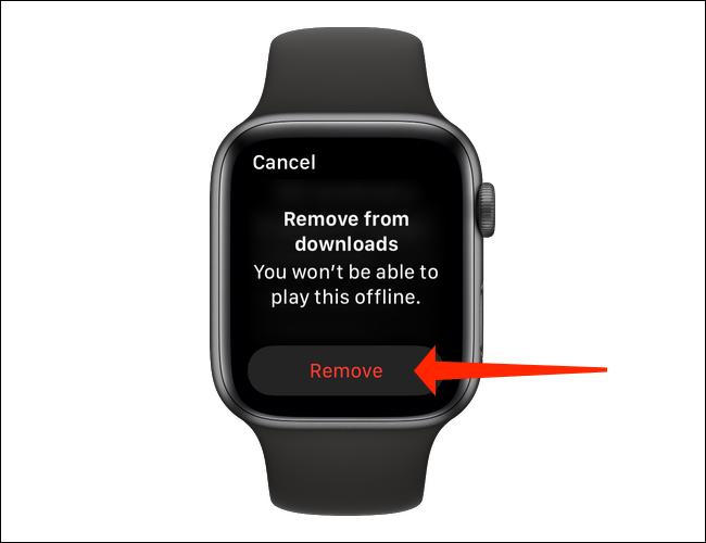 De esta forma podemos eliminar las canciones que hemos descargado de Spotify a Apple Watch.